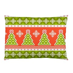 Christmas Tree Ugly Sweater Pattern Pillow Case (two Sides) by allthingseveryone