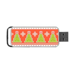 Christmas Tree Ugly Sweater Pattern Portable Usb Flash (two Sides) by allthingseveryone