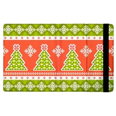 Christmas Tree Ugly Sweater Pattern Apple Ipad 3/4 Flip Case by allthingseveryone