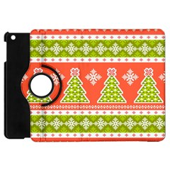 Christmas Tree Ugly Sweater Pattern Apple Ipad Mini Flip 360 Case by allthingseveryone