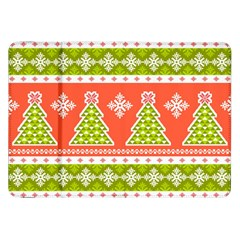 Christmas Tree Ugly Sweater Pattern Samsung Galaxy Tab 8 9  P7300 Flip Case by allthingseveryone