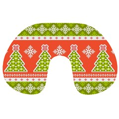 Christmas Tree Ugly Sweater Pattern Travel Neck Pillows by allthingseveryone