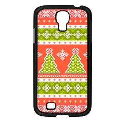 Christmas Tree Ugly Sweater Pattern Samsung Galaxy S4 I9500/ I9505 Case (black) by allthingseveryone