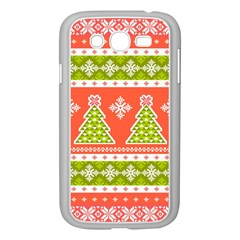 Christmas Tree Ugly Sweater Pattern Samsung Galaxy Grand Duos I9082 Case (white) by allthingseveryone