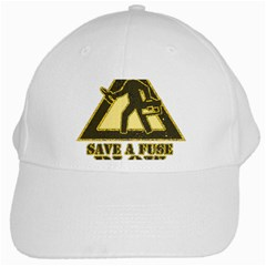 Save A Fuse Blow An Electrician White Cap by FunnyShirtsAndStuff