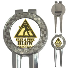 Save A Fuse Blow An Electrician 3 In 1 Golf Divots by FunnyShirtsAndStuff
