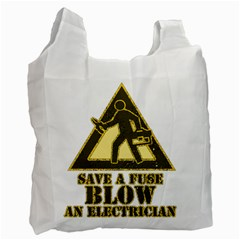 Save A Fuse Blow An Electrician Recycle Bag (one Side) by FunnyShirtsAndStuff