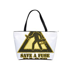 Save A Fuse Blow An Electrician Shoulder Handbags by FunnyShirtsAndStuff
