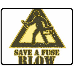 Save A Fuse Blow An Electrician Fleece Blanket (medium)  by FunnyShirtsAndStuff