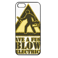 Save A Fuse Blow An Electrician Apple Iphone 5 Seamless Case (black) by FunnyShirtsAndStuff