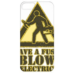 Save A Fuse Blow An Electrician Apple Iphone 5 Classic Hardshell Case by FunnyShirtsAndStuff