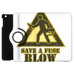Save A Fuse Blow An Electrician Apple Ipad Mini Flip 360 Case by FunnyShirtsAndStuff