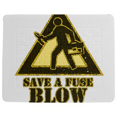 Save A Fuse Blow An Electrician Jigsaw Puzzle Photo Stand (rectangular) by FunnyShirtsAndStuff