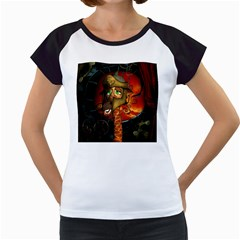 Funny Giraffe With Helmet Women s Cap Sleeve T by FantasyWorld7
