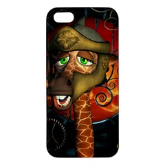 Funny Giraffe With Helmet Iphone 5s/ Se Premium Hardshell Case by FantasyWorld7