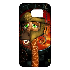 Funny Giraffe With Helmet Galaxy S6 by FantasyWorld7