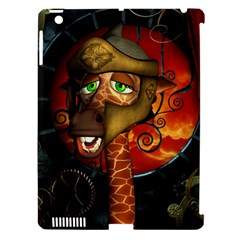 Funny Giraffe With Helmet Apple Ipad 3/4 Hardshell Case (compatible With Smart Cover) by FantasyWorld7