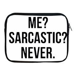 Me Sarcastic Never Apple Ipad 2/3/4 Zipper Cases by FunnyShirtsAndStuff