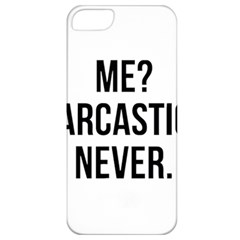 Me Sarcastic Never Apple Iphone 5 Classic Hardshell Case by FunnyShirtsAndStuff