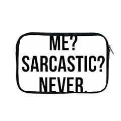 Me Sarcastic Never Apple Macbook Pro 13  Zipper Case by FunnyShirtsAndStuff