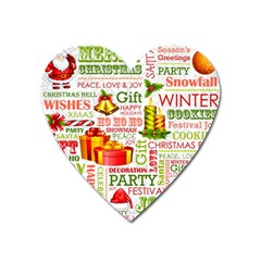 The Joys Of Christmas Heart Magnet by allthingseveryone