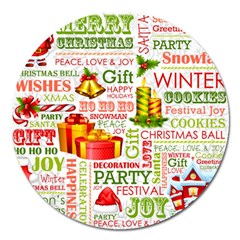 The Joys Of Christmas Magnet 5  (round) by allthingseveryone