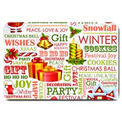 The Joys Of Christmas Large Doormat  by allthingseveryone