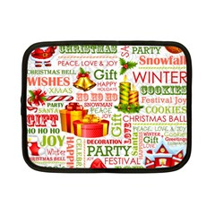 The Joys Of Christmas Netbook Case (small)  by allthingseveryone