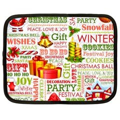 The Joys Of Christmas Netbook Case (large) by allthingseveryone