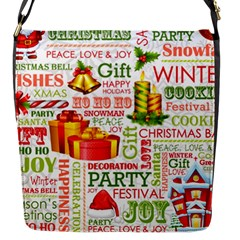 The Joys Of Christmas Flap Messenger Bag (s) by allthingseveryone