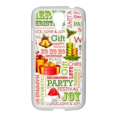 The Joys Of Christmas Samsung Galaxy S4 I9500/ I9505 Case (white) by allthingseveryone
