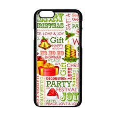 The Joys Of Christmas Apple Iphone 6/6s Black Enamel Case by allthingseveryone