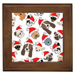 Christmas Puppies Framed Tiles by allthingseveryone
