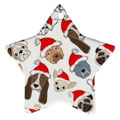 Christmas Puppies Ornament (star) by allthingseveryone