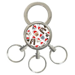 Christmas Puppies 3 Ring Key Chains by allthingseveryone