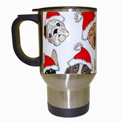 Christmas Puppies Travel Mugs (white) by allthingseveryone