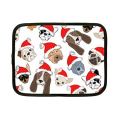 Christmas Puppies Netbook Case (small)  by allthingseveryone