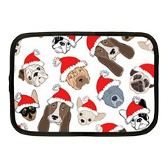 Christmas Puppies Netbook Case (medium)  by allthingseveryone