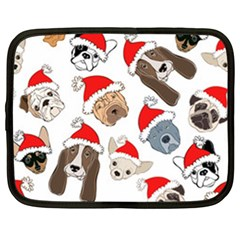 Christmas Puppies Netbook Case (large) by allthingseveryone