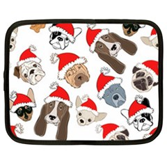 Christmas Puppies Netbook Case (xxl)  by allthingseveryone
