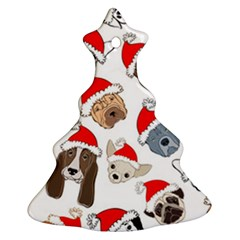 Christmas Puppies Christmas Tree Ornament (two Sides) by allthingseveryone