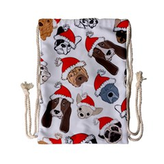 Christmas Puppies Drawstring Bag (small) by allthingseveryone