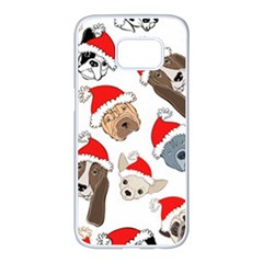 Christmas Puppies Samsung Galaxy S7 Edge White Seamless Case by allthingseveryone