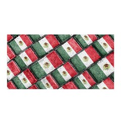 Mexican Flag Pattern Design Satin Wrap by dflcprints