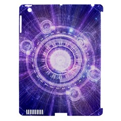 Blue Fractal Alchemy Hud For Bending Hyperspace Apple Ipad 3/4 Hardshell Case (compatible With Smart Cover) by jayaprime