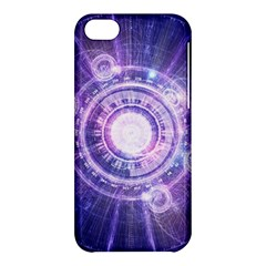 Blue Fractal Alchemy Hud For Bending Hyperspace Apple Iphone 5c Hardshell Case by jayaprime
