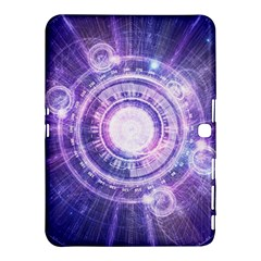 Blue Fractal Alchemy Hud For Bending Hyperspace Samsung Galaxy Tab 4 (10 1 ) Hardshell Case  by jayaprime