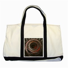 The Thousand And One Rings Of The Fractal Circus Two Tone Tote Bag by jayaprime