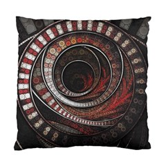 The Thousand And One Rings Of The Fractal Circus Standard Cushion Case (one Side) by jayaprime