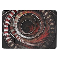 The Thousand And One Rings Of The Fractal Circus Samsung Galaxy Tab 10 1  P7500 Flip Case by jayaprime